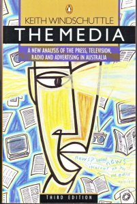 The cover of 'The Media: The New Analysis of the Press, Television, Radio and Advertising in Australia.' Penguin.